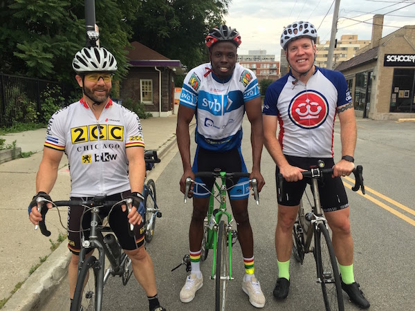 Troy, James and I after a morning ride
